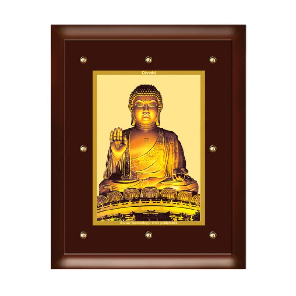 24K GOLD PLATED MDF FRAME SIZE 5 CLASSIC COLOR BUDDHA