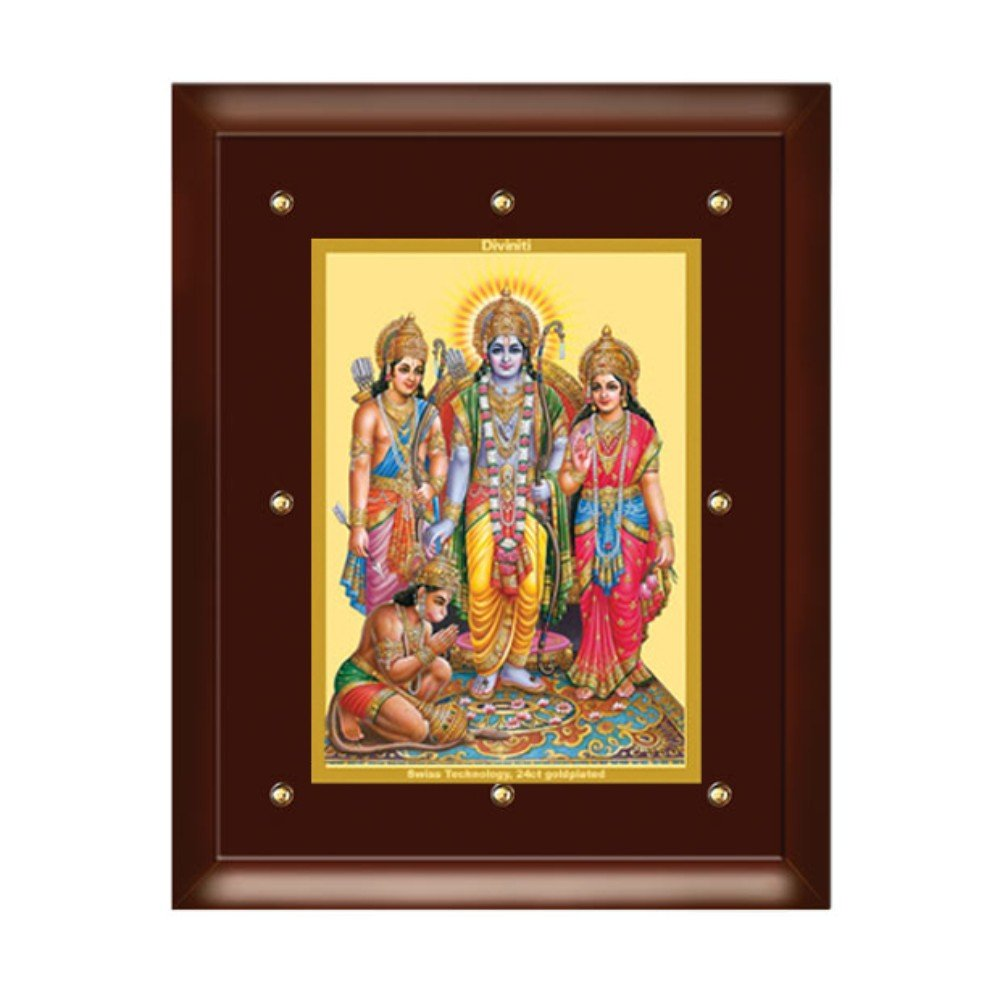 24K GOLD PLATED MDF FRAME SIZE 5 CLASSIC COLOR RAM DARBAR