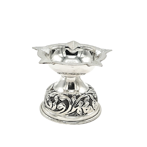925 OXIDISED SILVER  DIYA FOR HOME TEMPLE FOR POOJA PURPOSE