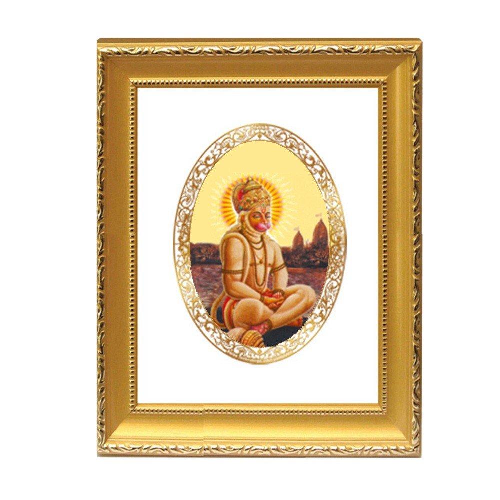 24K GOLD PLATED DG FRAME 101 SIZE 2 ROYALE COLOR HANUMAN IN PRAYER