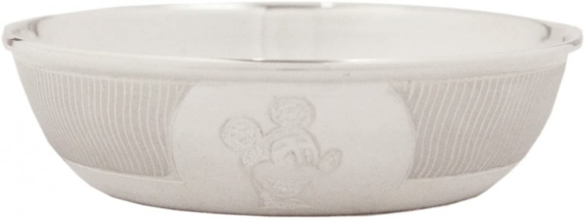 90%-92.5% Pure Bis Hallmarked Sterling Silver Baby Bowl - Mickey Mouse Design