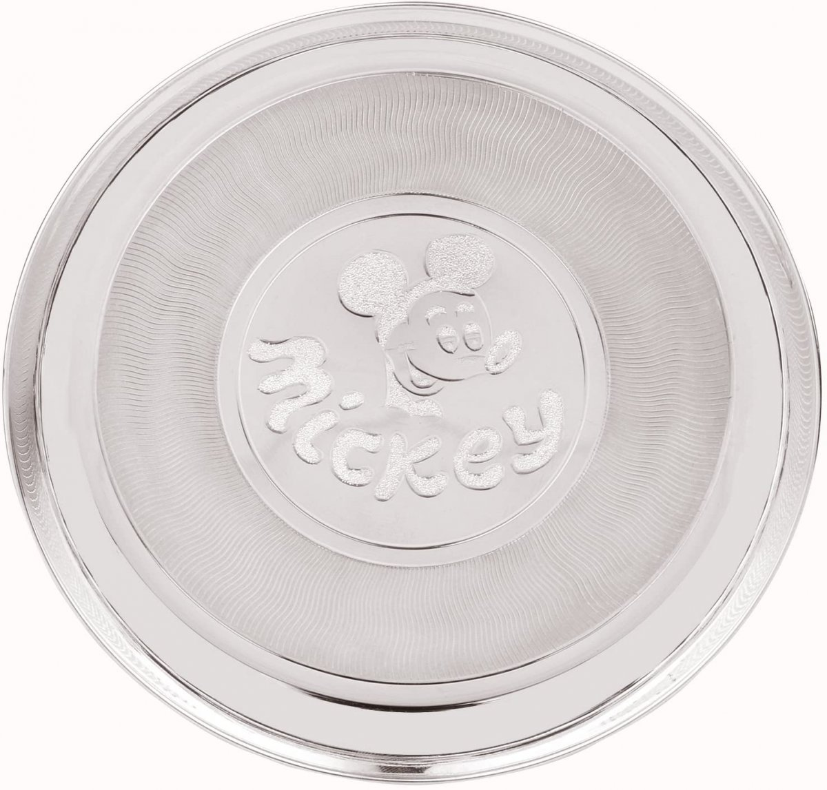 Silver Baby Plate Mickey Mouse Design