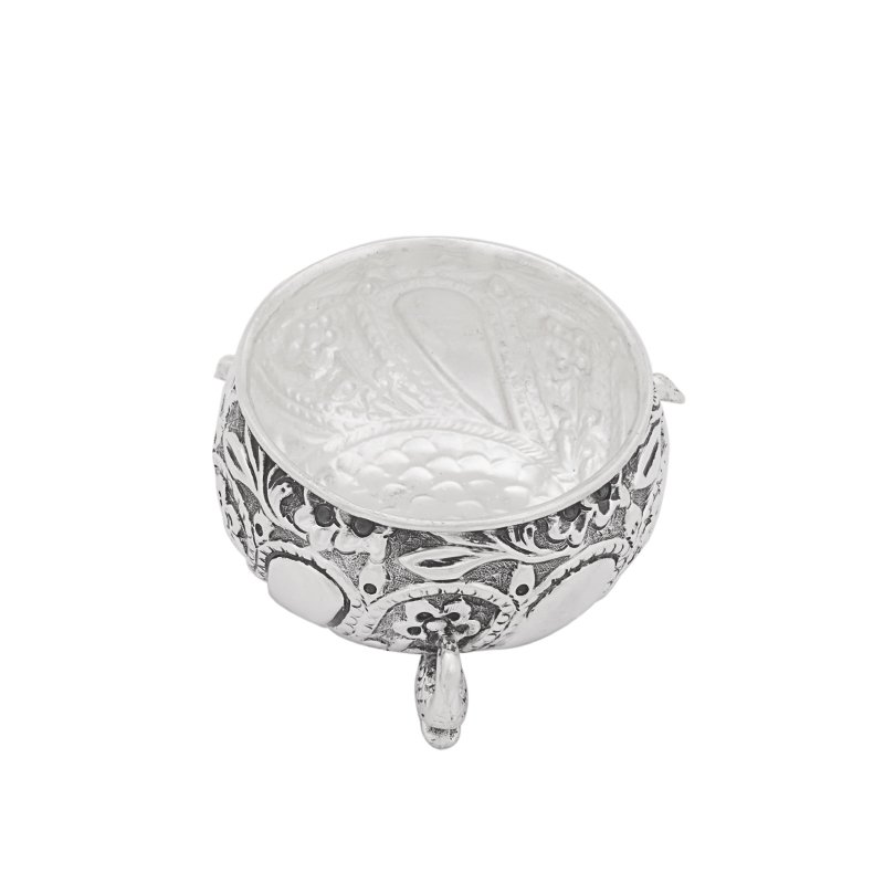 HNAD CRAFTED OXIDIZED 925 STERLING SOLID SILVER DISH BOWL