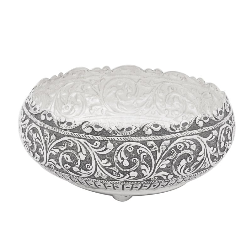 925 ANTIC SILVER NAGAS HAND CRAFTED BOWL FOR MULTI PURPOSE