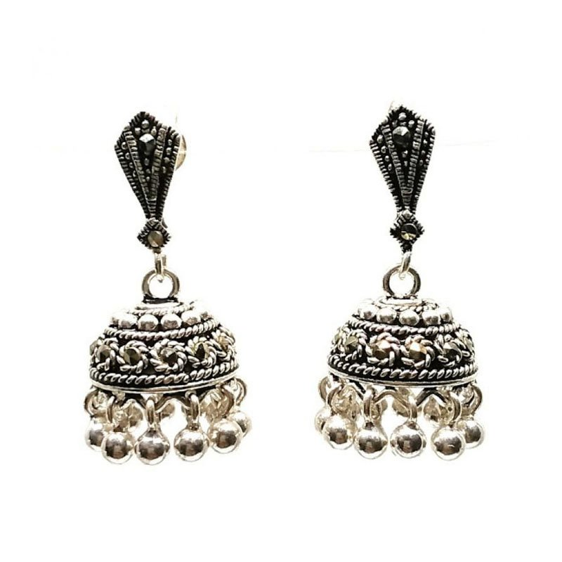 92.5 ANTIQUE SILVER PARTY WEAR  JHUMKA  FOR HOUSE WIFE
