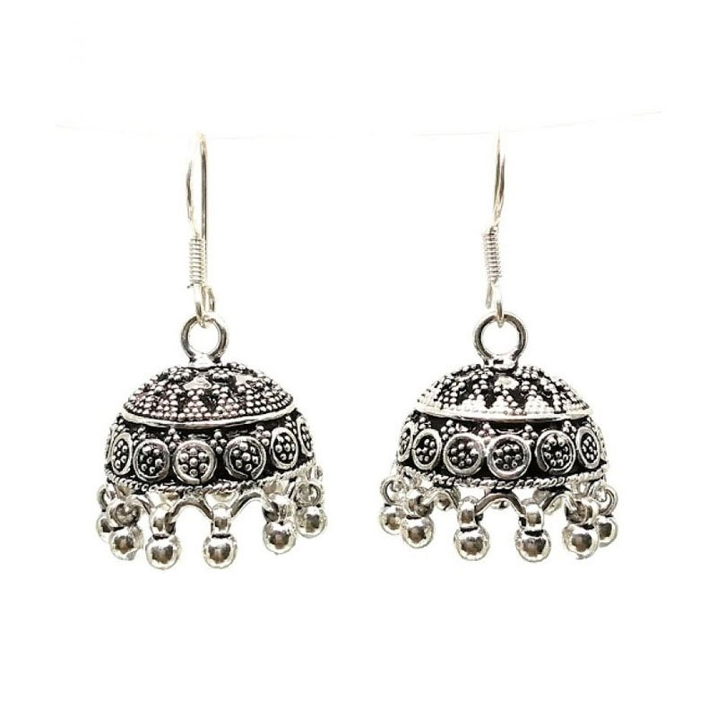 ANTIQUE SILVER FISH HOOK JHUMKA  FOR HOUSE WIFE