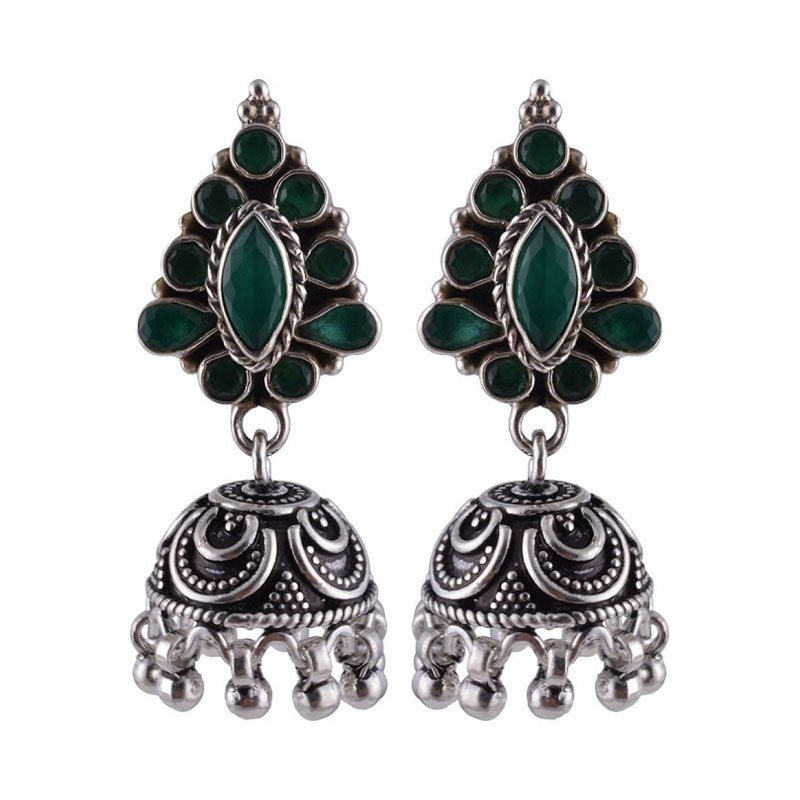 SILVER DESIGNER JHUMKAA FOR HOUSE WIFE