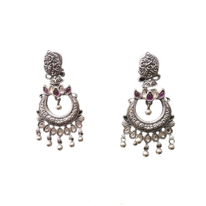 92.5 SILVER TRADITIONAL  HANDCRAFTED JHUMKI FOR WOMEN