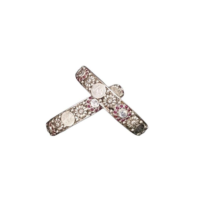 Silver bangles set for women /Girls