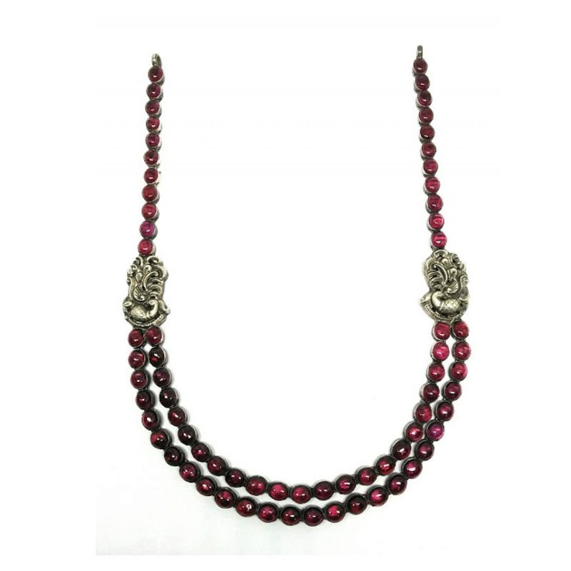 Traditional Nagas Peacock motif 2 line Necklace