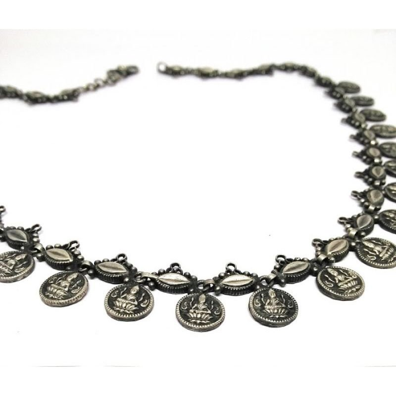 Silver Stylish Fancy Party Wear Traditional Chain | Necklace for Women & Girls