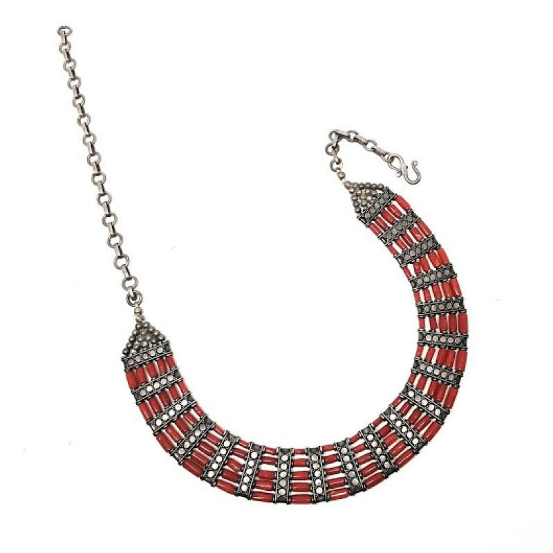 925 Sterling Silver Original Corals Necklace for Women