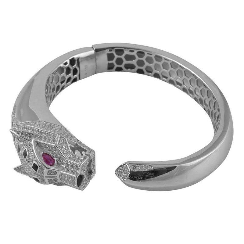 925 Pure Silver Oxidised Kada (Bracelet Bangle) for Women and Girls