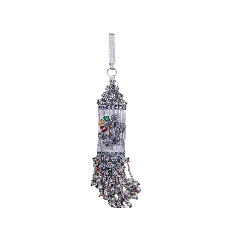 Oxidised Silver Hamsa  Key Chain for women