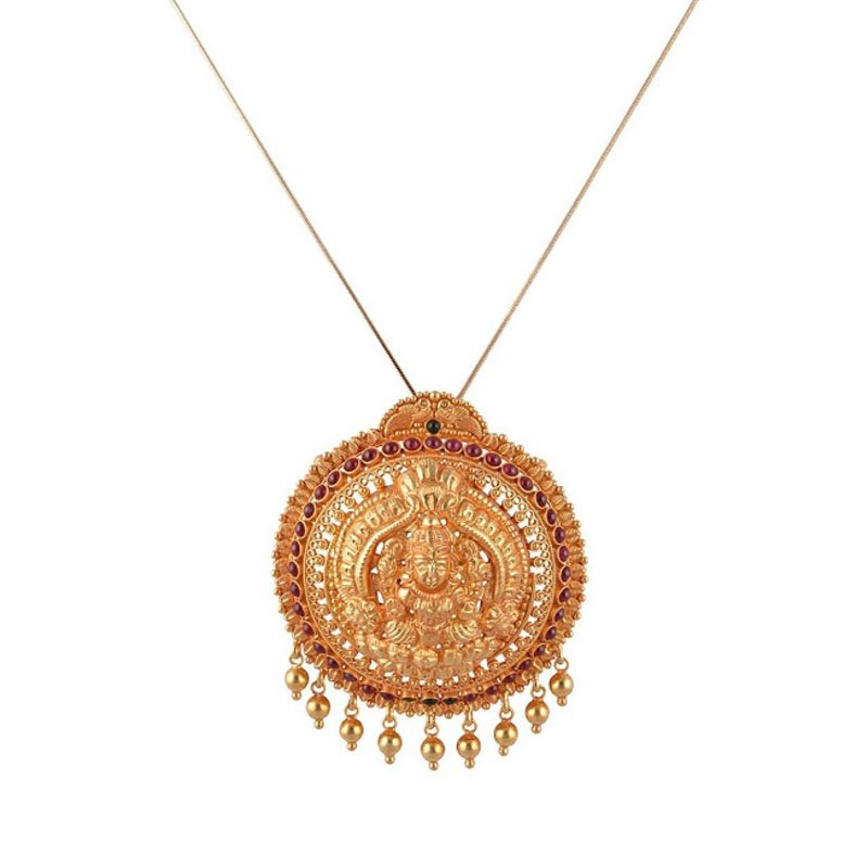 GOLD PLATED TRADITIONAL PENDANT FOR WOMEN