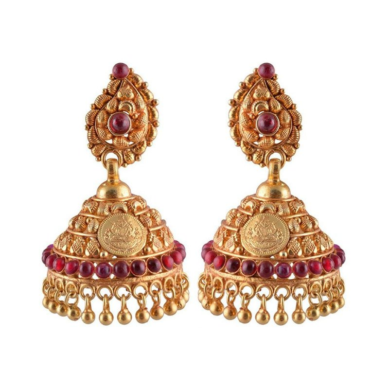 Gold Plated Traditional Jhumka Jhumki Earrings for Women and Girls