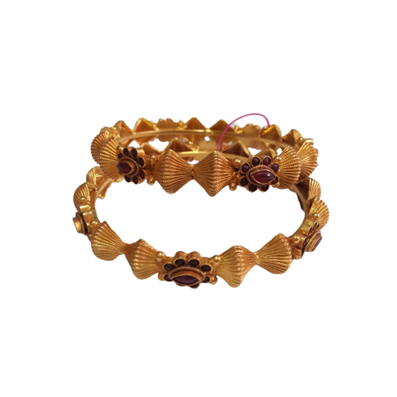 HANDCRAFTED YELLOW GOLD BANGLE FOR GIRLS