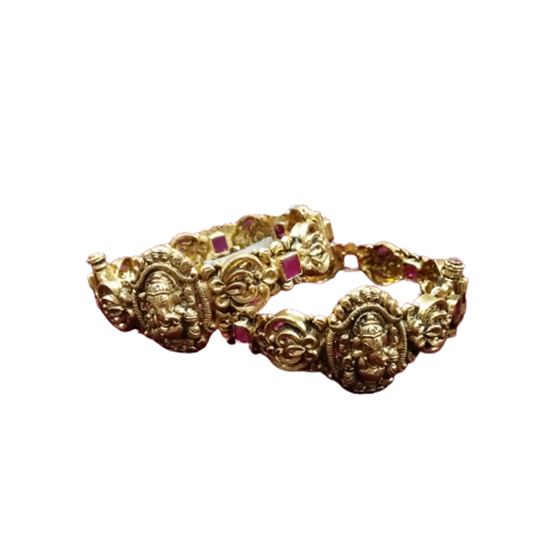 NAGAS SILVER GOLD POLISH BANGLES FOR WIFE