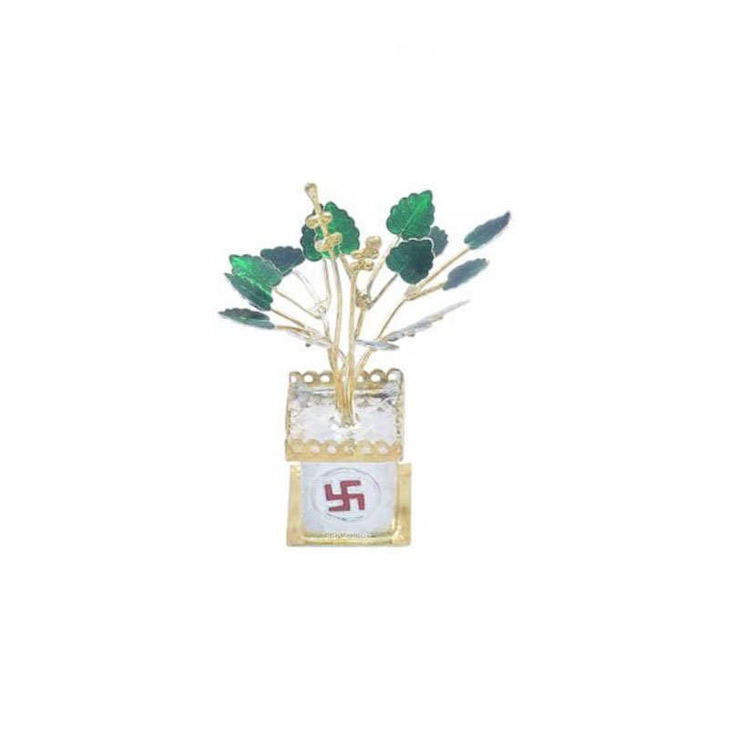 925 PURE SILVER TULSI PLANT FOR  HOUSE WARMING GIFT