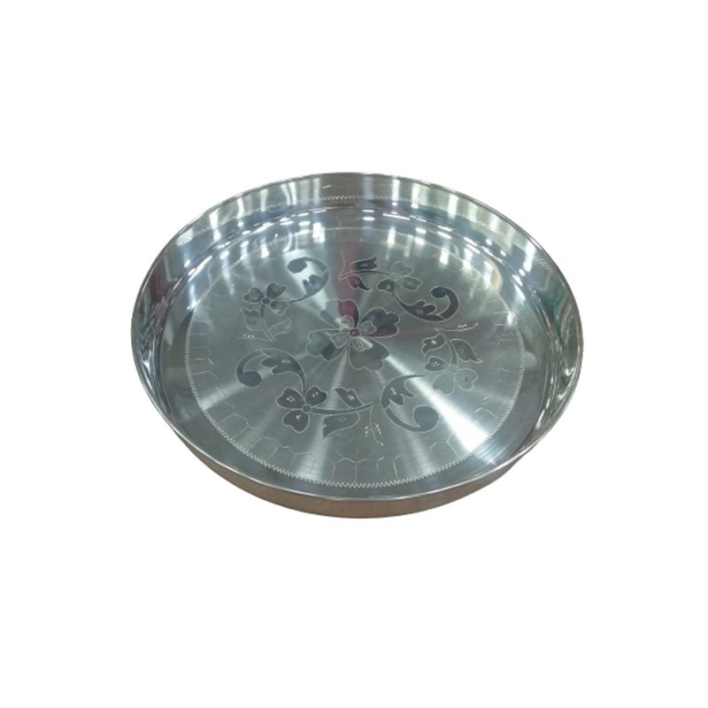 925 PURE SILVER HAND CRAFTED THALI/DINNER PLATE