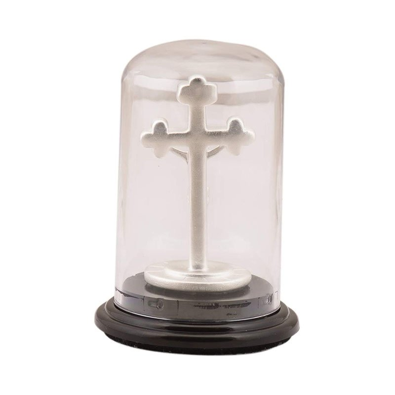 925 PURE SILVER  HOLY CROSS JESUS  IDOL CAR STAND/ GIFT ITEM