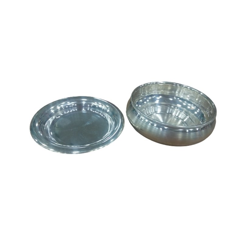 925 OXIDISED SILVER PURE BOWL SET WITH PLATE