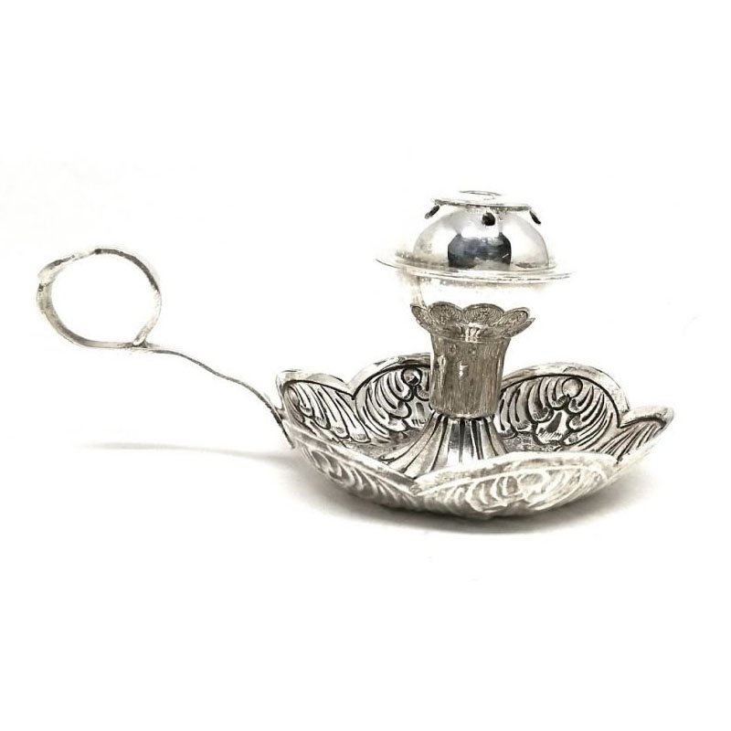 925 OXIDISED SILVER NAGAS DESIGN DHOOP BATTI STAND