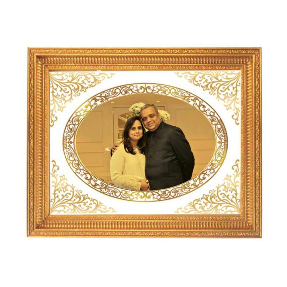 24K GOLD PLATED DG FRAME SIZE 4 MARRIAGE PHOTO