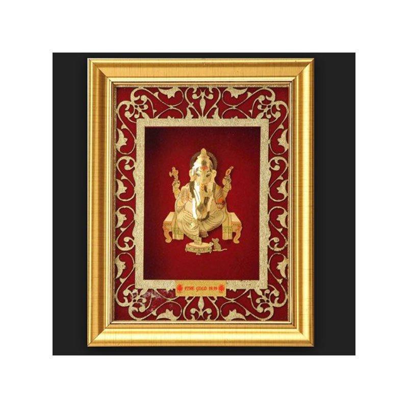 Pure Gold Ganesha Artwork Photo Frame