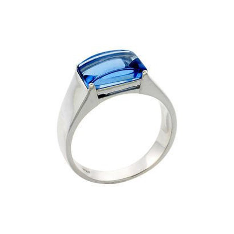 Silver Stone Rings for Men