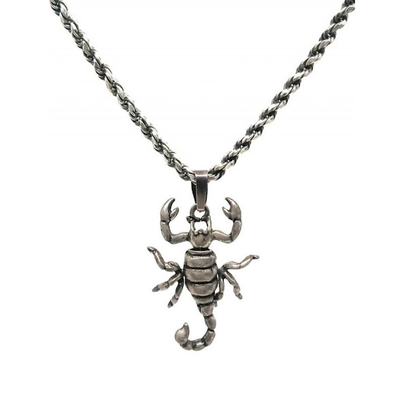 Scorpion Pendant Necklace in Sterling Silver for men