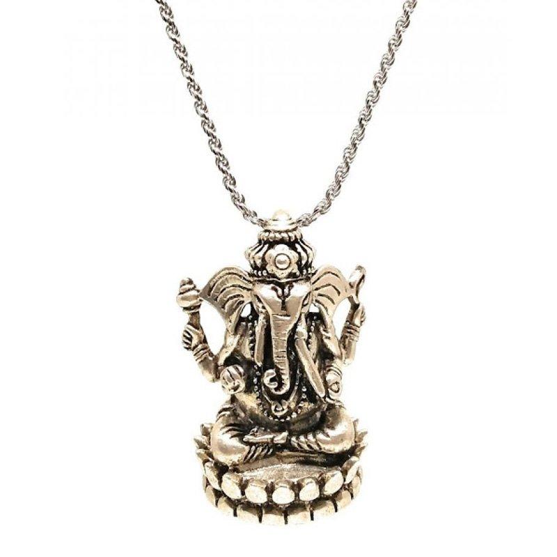 vinayagar silver chain for men