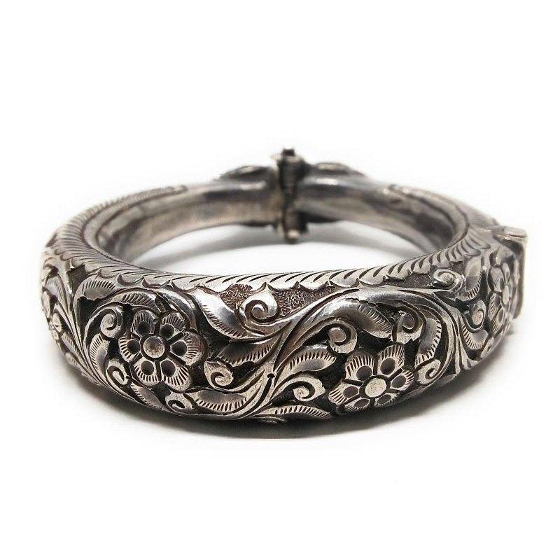 Adjustable Free Size Black Oxidized Silver Strong Heavy  Bracelets For Men Mens Boy Boyfriend KADA