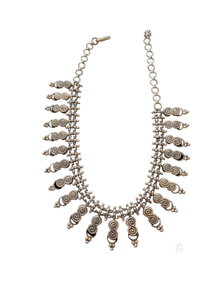 ANTIQUE OXIDISED SILVER NECKLACE  FOR PRINCESS