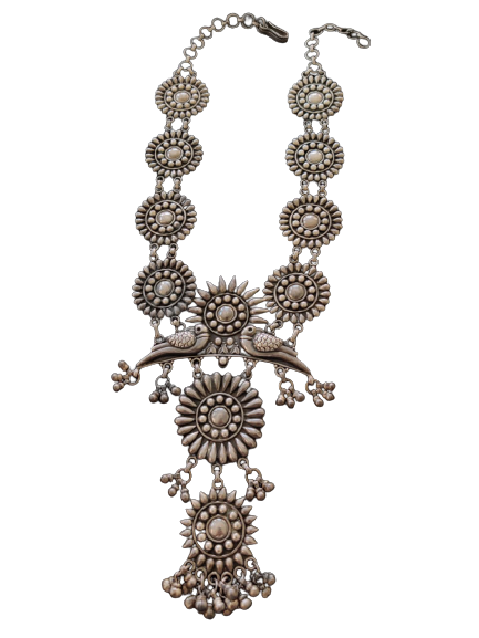 ANTIQUE OXIDISED SILVER NECKLACE FOR BRIDAL