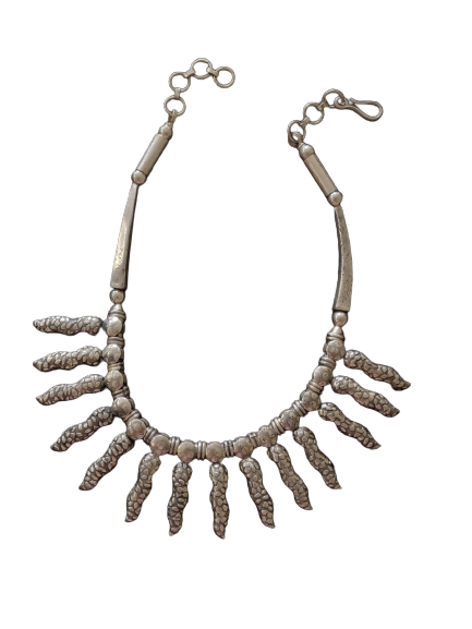 OXIDIZED SILVER NECKLACE FOR WIFE