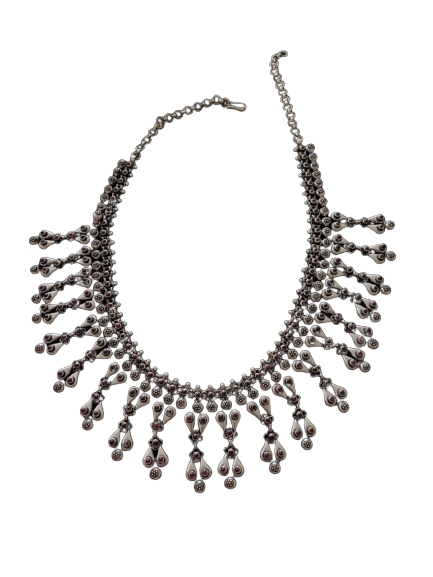 ANTIQUE OXIDISED SILVER NECKLACE FOR WOMEN