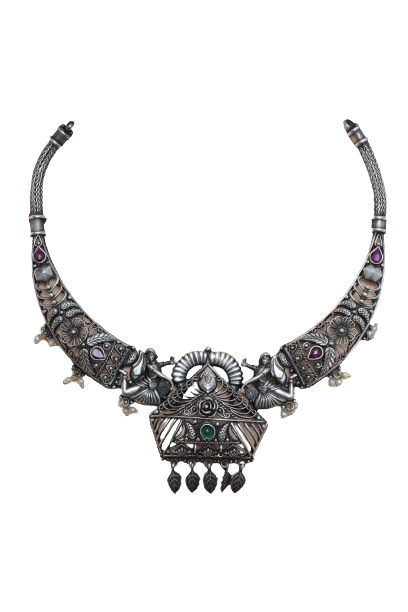 ANTIQUE SILVER TRADITIONAL NECKLACE FOR HOUSE WIFE
