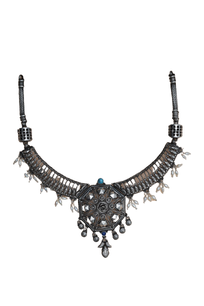 ANTIQUE SILVER NECKLACE  FOR GIRLS