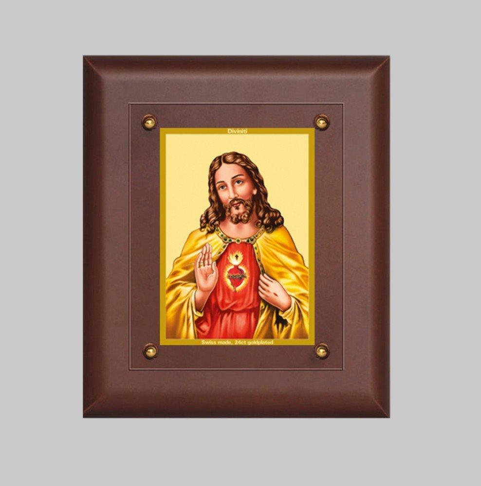 24K GOLD PLATED MDF FRAME SIZE 2.5 CLASSIC COLOR JESUS