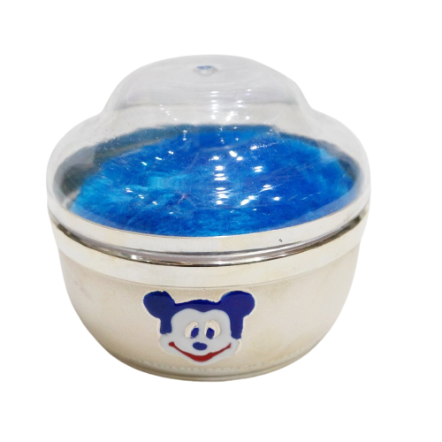 SILVER POWDER BOX FOR BABY WITH PUFF