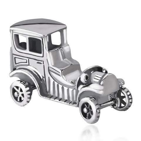 92.5 PURE SILVER ANTIC CAR FOR KIDS