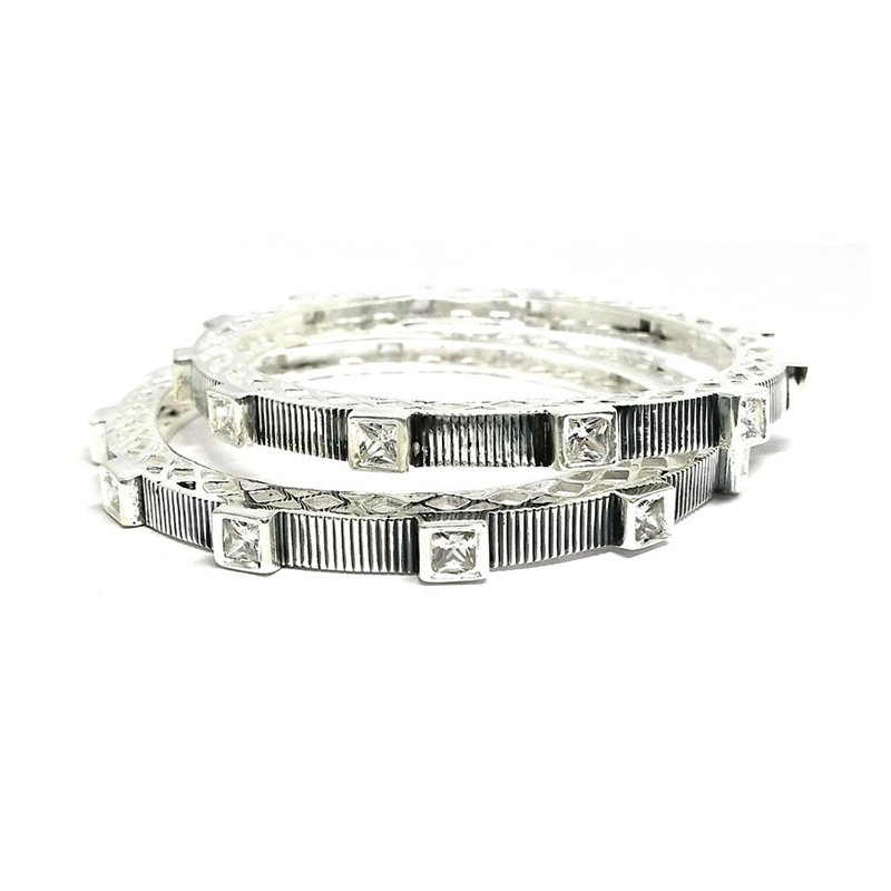 925 OXIDISED SILVER BANGLE FOR WOMEN'S AND GIRLS