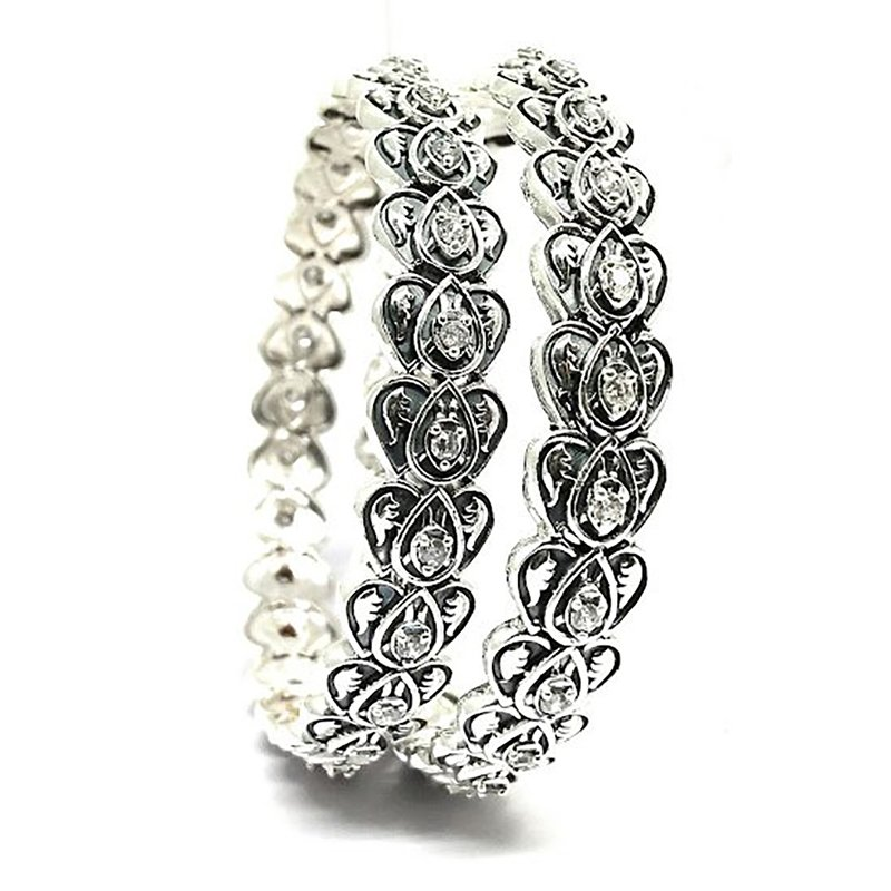 925 OXIDISED SILVER TRADITIONAL BANGLE FOR WORKING WOMEN
