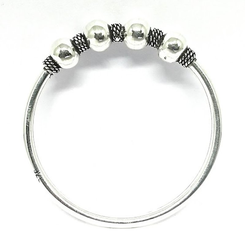 925 OXIDISED SILVER BANGLE FOR PARTY WEAR