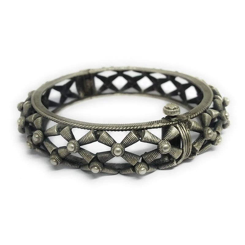 925 OXIDISED SILVER BANGLE  FOR GIRLS
