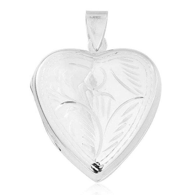 92.5 SILVER HEART SHAPE LOCKET FOR GIRLS