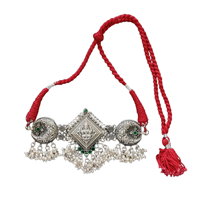 ANTIC SILVER RAJASTHANI CHOKER PENDANT  FOR BEST LADY