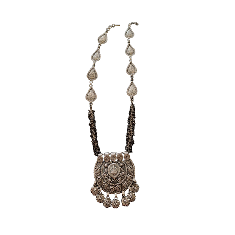 OXIDIZED SILVER PENDANT NECKLACE FOR FOR WIFE