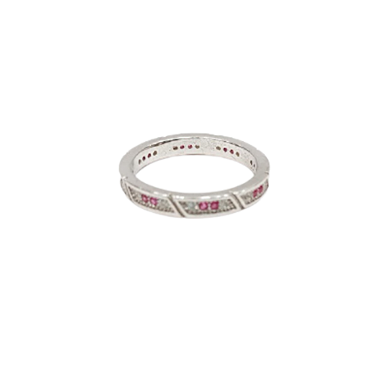 92.5 SILVER TRADITIONAL FANCY FINGER RING FOR GIRLS
